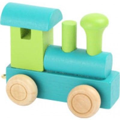 green alphabet train engine