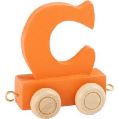 orange train letter C