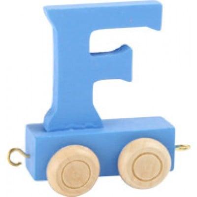 blue train letter F
