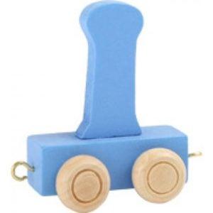 Blue train letter I