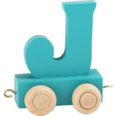 dark green train letter J
