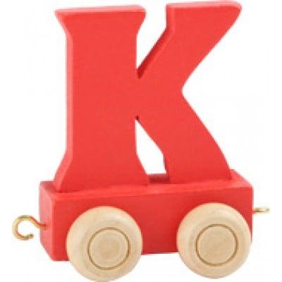 Red train letter K