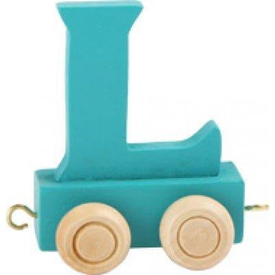Dark green train letter L