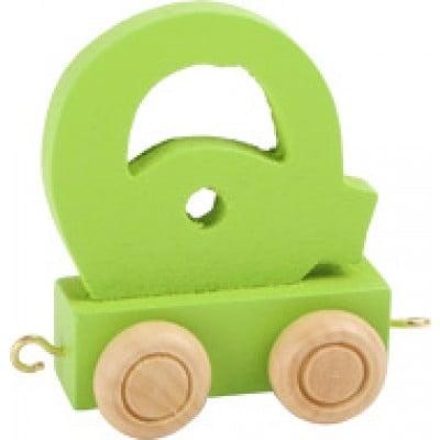 green train letter Q