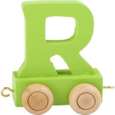 Green train letter R