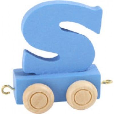 blue train letter S