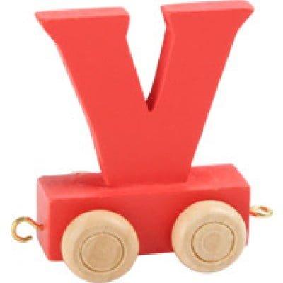 Red train letter V