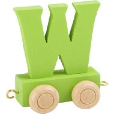 green train letter W