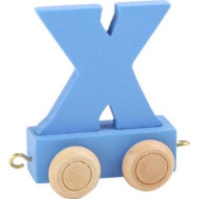 blue train letter X