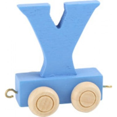 blue train letter Y