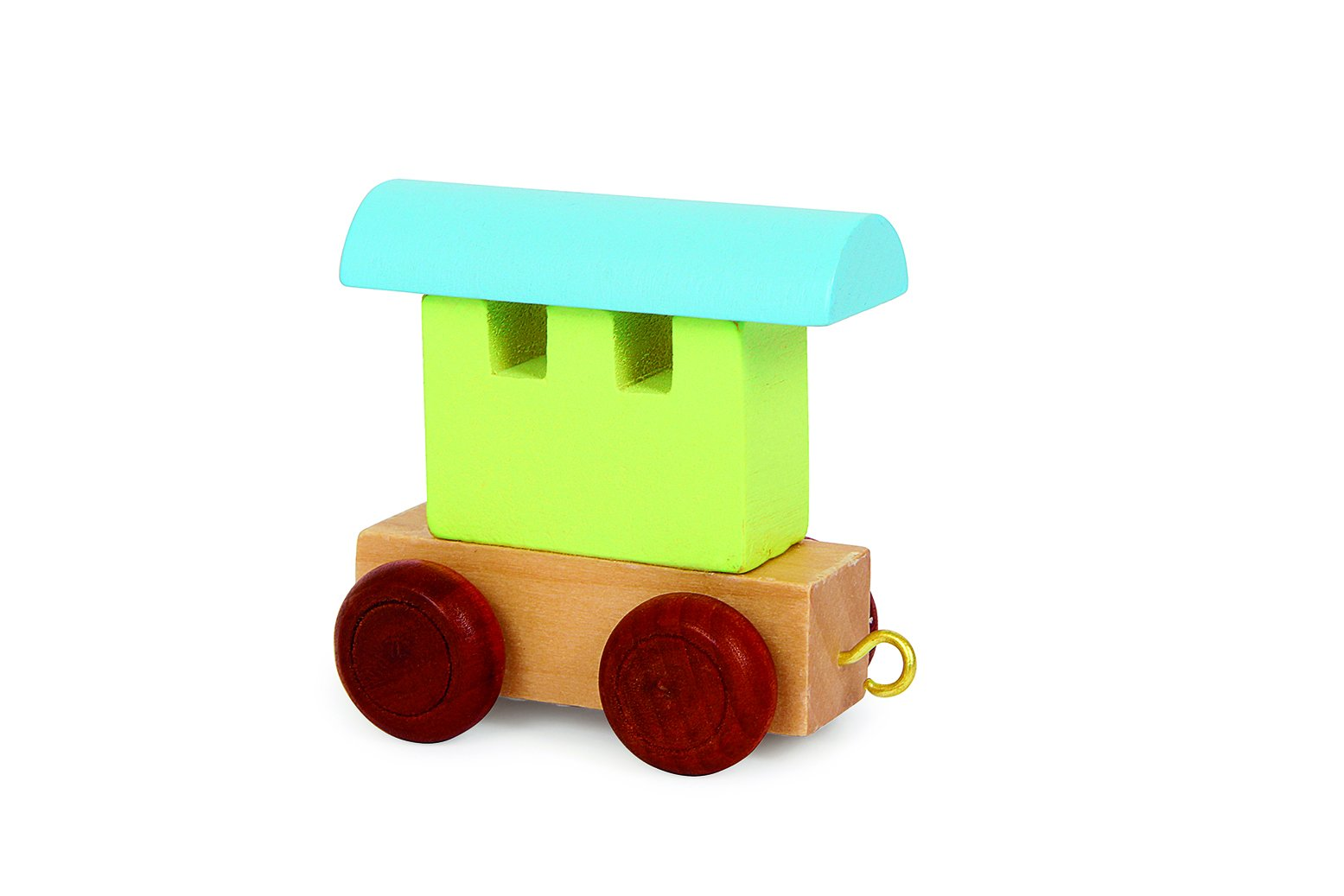 pastel green alphabet train back carriage