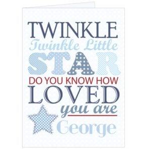 twinkle blue card