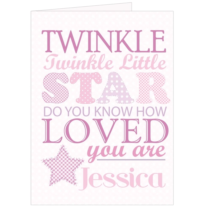 twinkle pink card