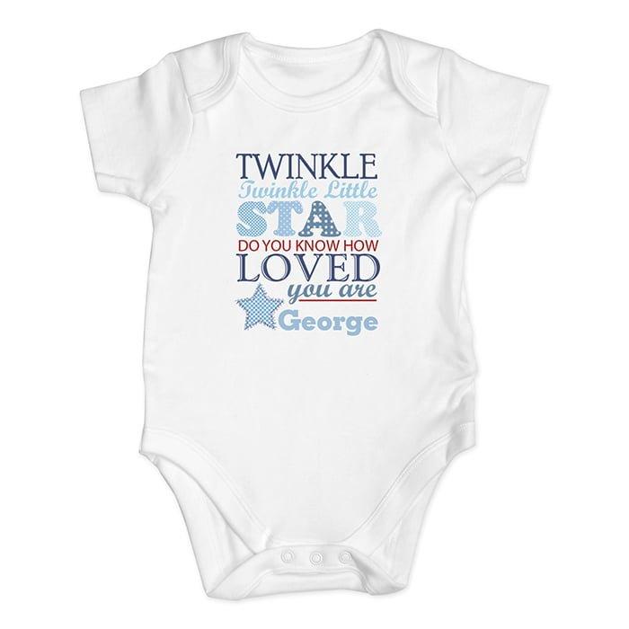 twinkle blue baby vest