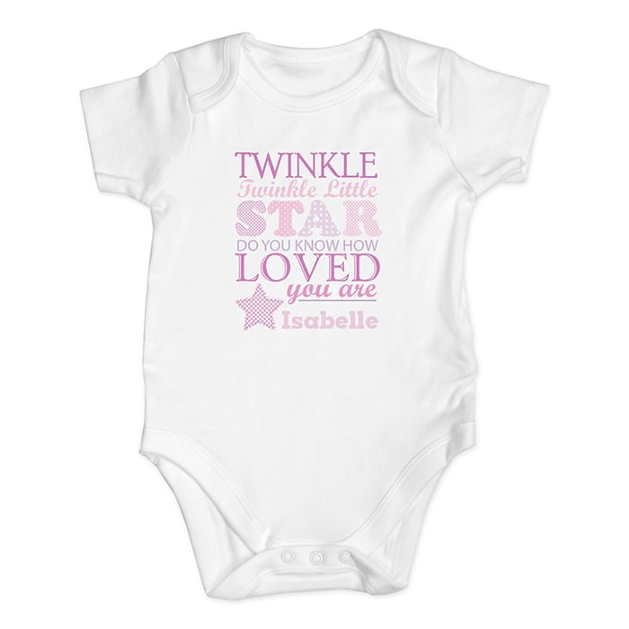 twinkle pink baby vest