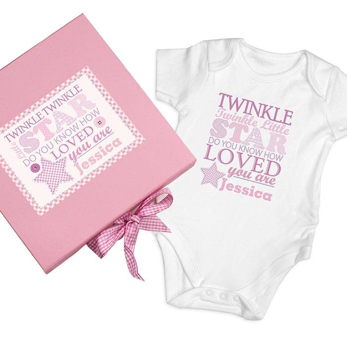 twinkle pink vest gift set