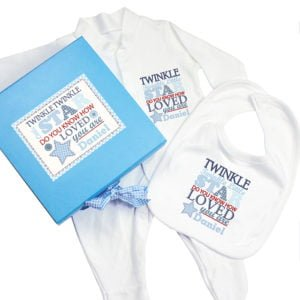 twinkle blue baby gift set