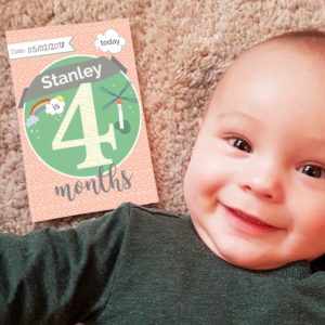 personalised milestone baby cards 1